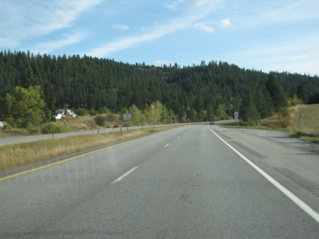 Almost to Crawford Lane and just past Canyon Road I-90 East