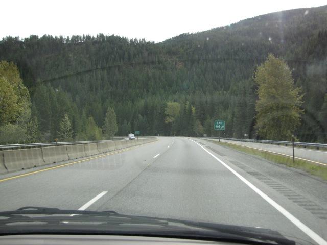 Exit 66, Idaho exit forGulf Creek near Mullan, Idaho