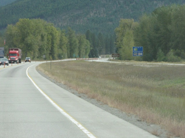 Exit for Glacier National Park and St Regis