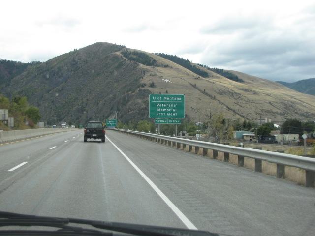 University of Montana exit 105 - Missoula