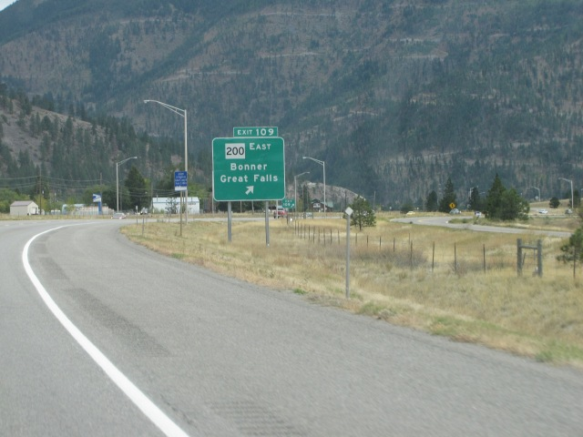 Exit 109 junction to Bonner and Great Falls