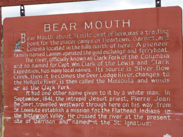 Bear Mouth Historical Marker