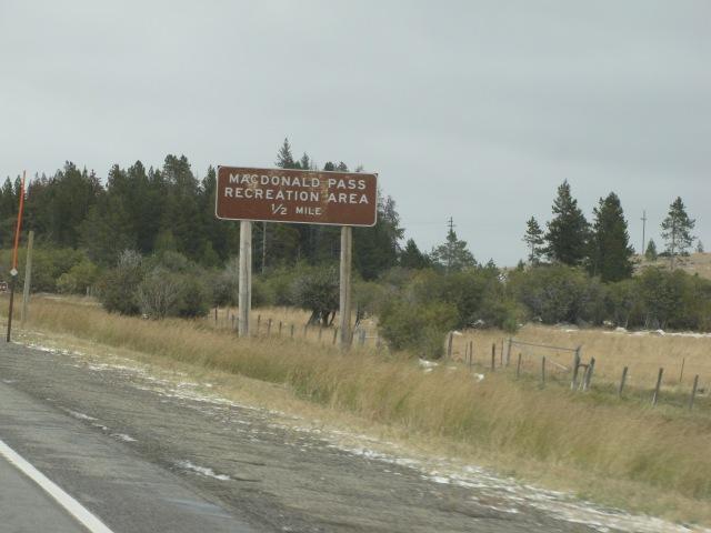 McDonald Pass Recreation area on the way to Helena