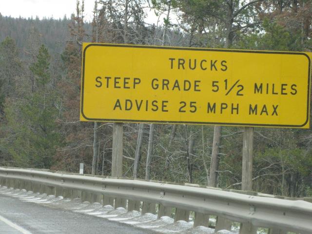 Nearing McDonald Pass - Highway 12 on the way to Helena