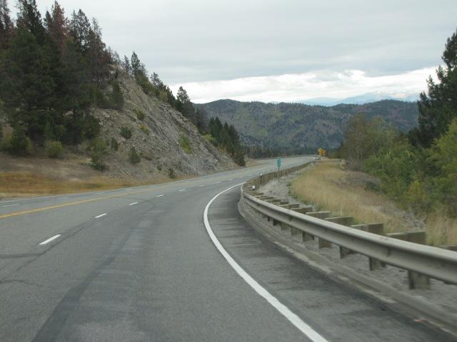 Milepost 30 after leaving McDonald Pass