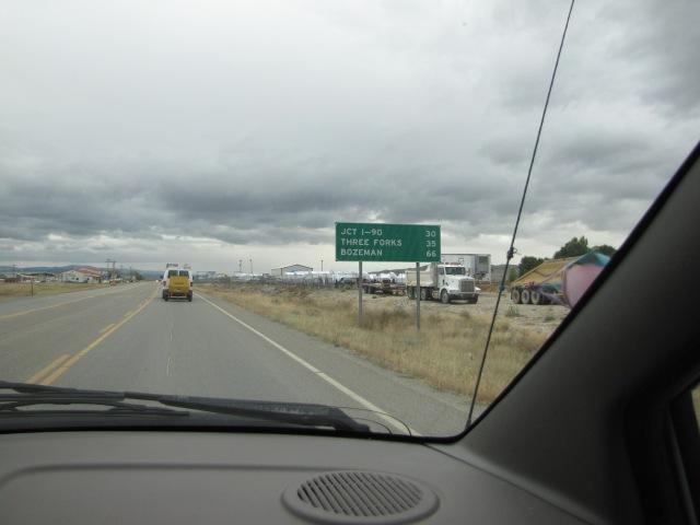 Bozeman - 66 miles! 4:47 p.m. Hwy 287