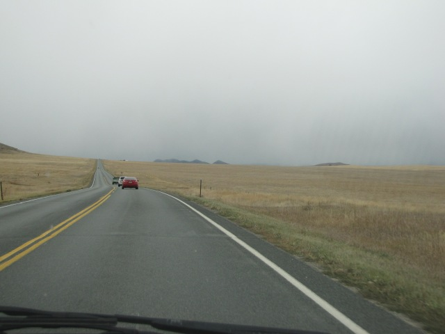 Snow and rain coming - Highway 287