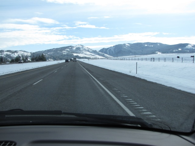 East on I-90 towards Livingston