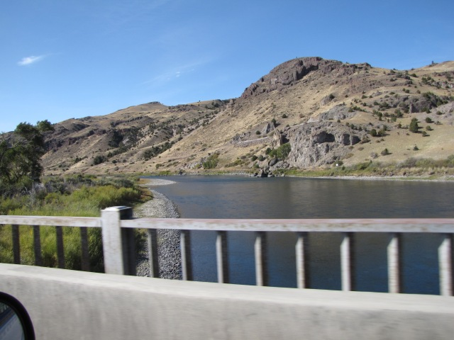 Crossing the Yellowstone River just North of State Highway 540