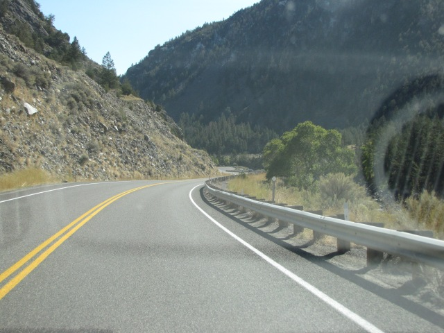 Entering Yankee Jim Canyon