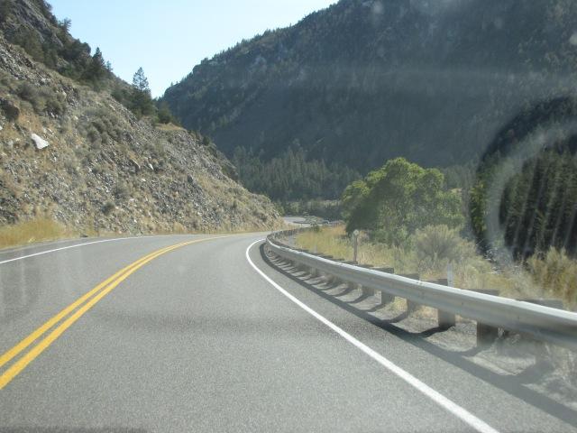Entering Yankee Jim Canyon
