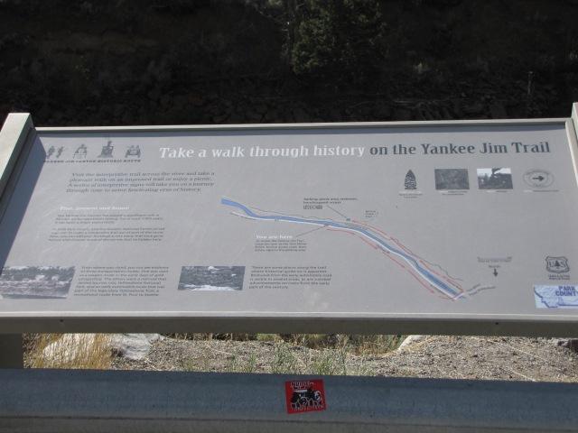 Yankee Jim Canyon sign