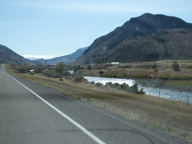 Just north of Corwin Springs, Montana