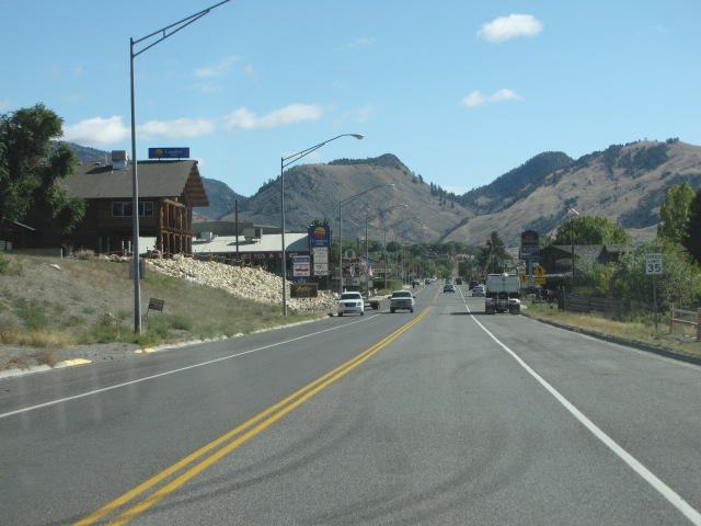 Gardiner, Montana.  We got a sammich here