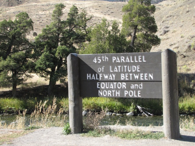 45th Parallel - in Montana - near Slide Lake