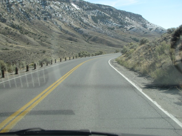 Sharp curves on N Entrance Road, Wyoming