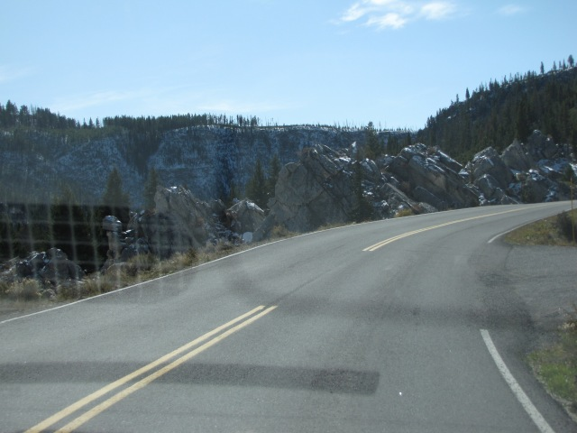 Silver Gate - entrance to the Hoodoo Mountains on right