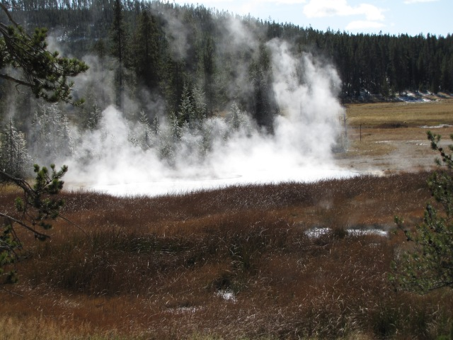 Hot springs just south of Nymph Lake