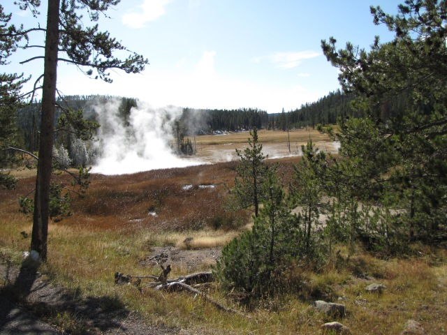 Hot springs near Nymph Lake
