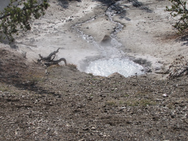 Strong sulpher smell here - North Norris Geyser Basin