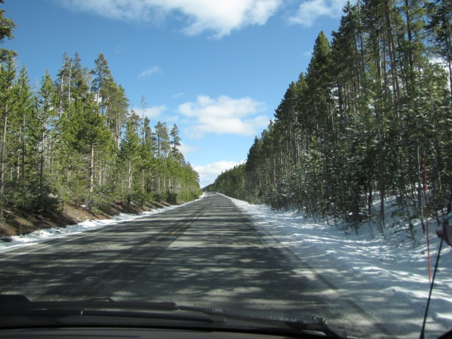 Heading East along Norris Canyon Road - 2:23 p.m. Elevation 7417'.