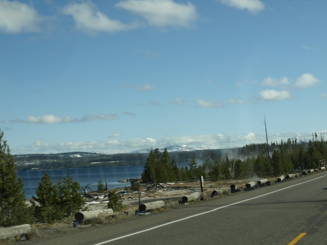 Yellowstone Lake and Flat Mountain to the left