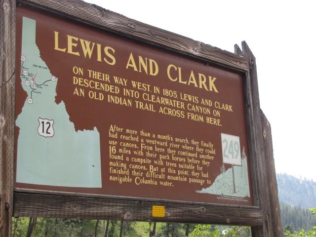 Historical marker on Highway 12