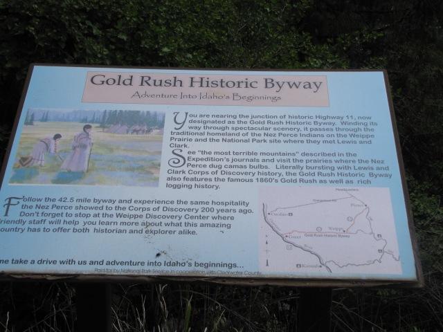Highway 12 historical marker
