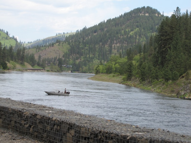 Clearwater River near the boat launch