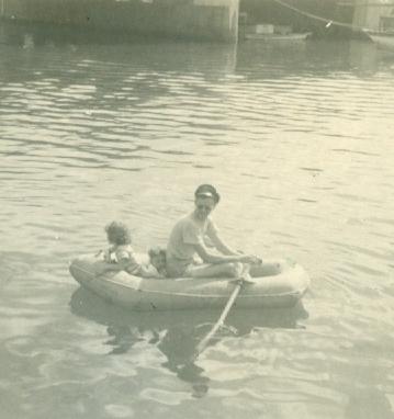 Moki, Dan, Dad, Ala Wai Yacht Harbor